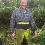 Clive at reed bed restoration, Brixham, Devon