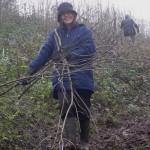 Viv at restoration of chalk grassland habitat at Yoseden Bank in Radnage, near Stokenchurch