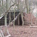 Bodgers hut construction at the Chiltern Open Air Museum