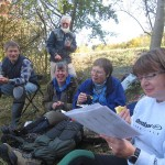 Taking a break during wildflower paradise restoration at Cock Lane Cemetery, High Wycombe