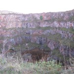 The old quarry, now home to the bats.